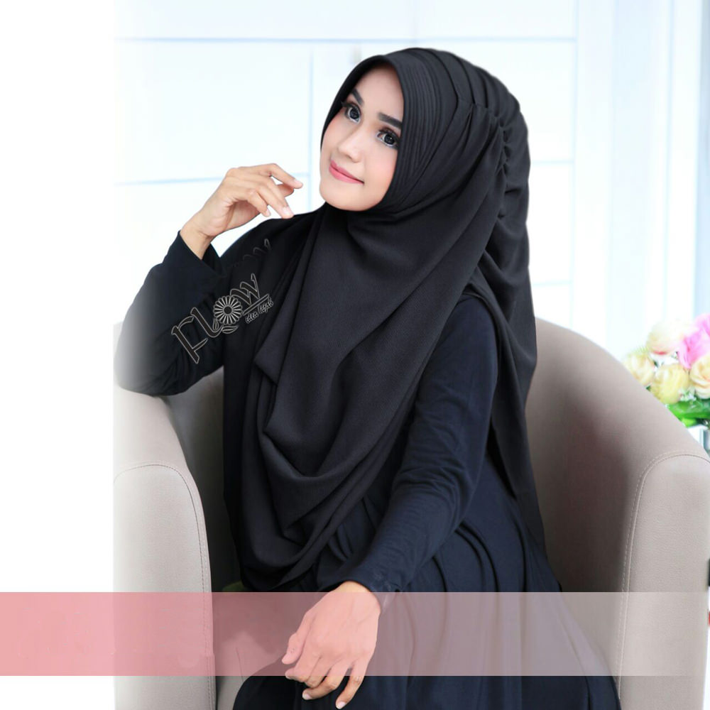 Jilbab Dravina Premium Hitam