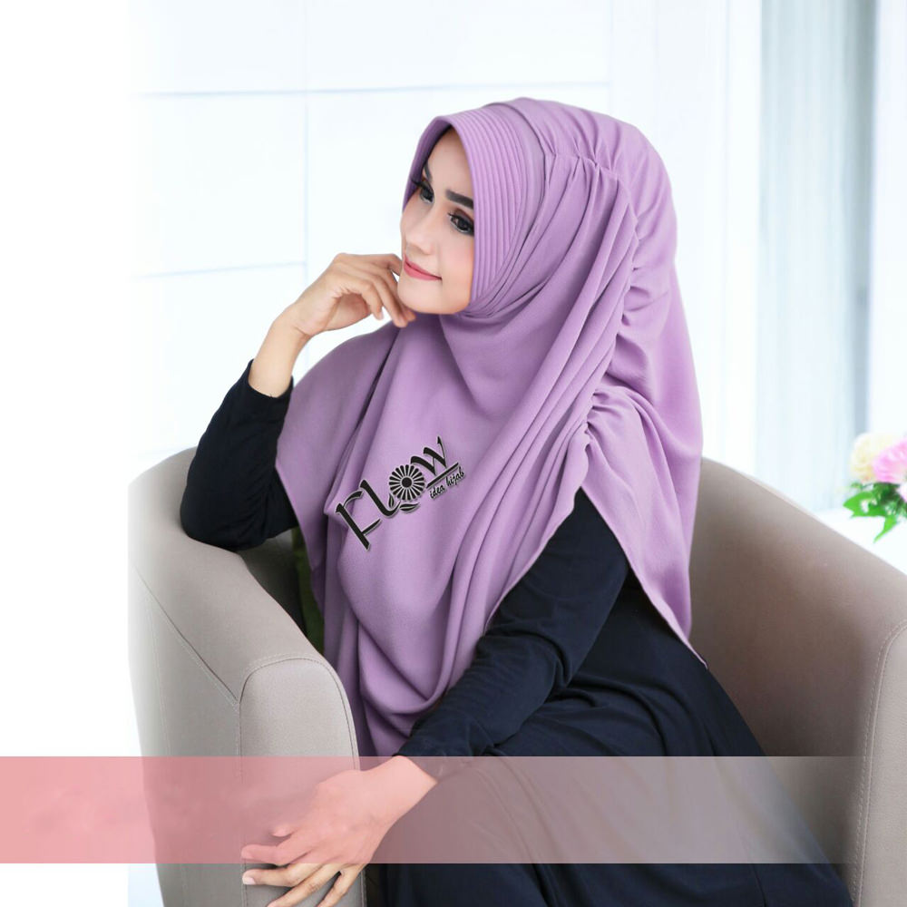Jilbab Dravina Premium Lavender