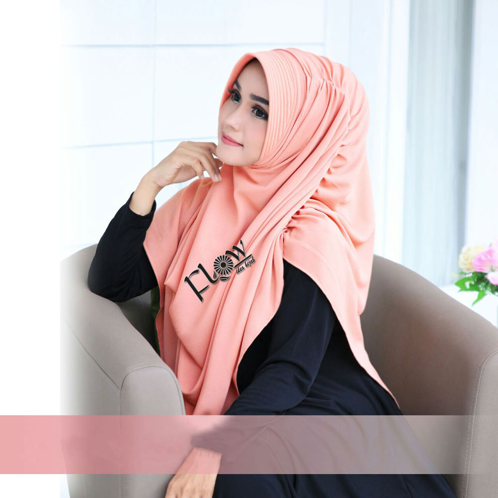 Jilbab Dravina Premium Pink