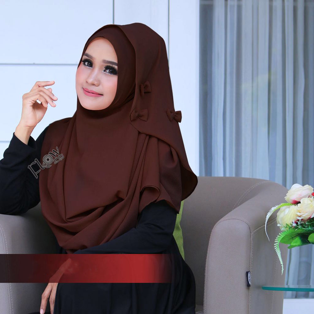 Jilbab Flowing Instant Ribboni Coktu