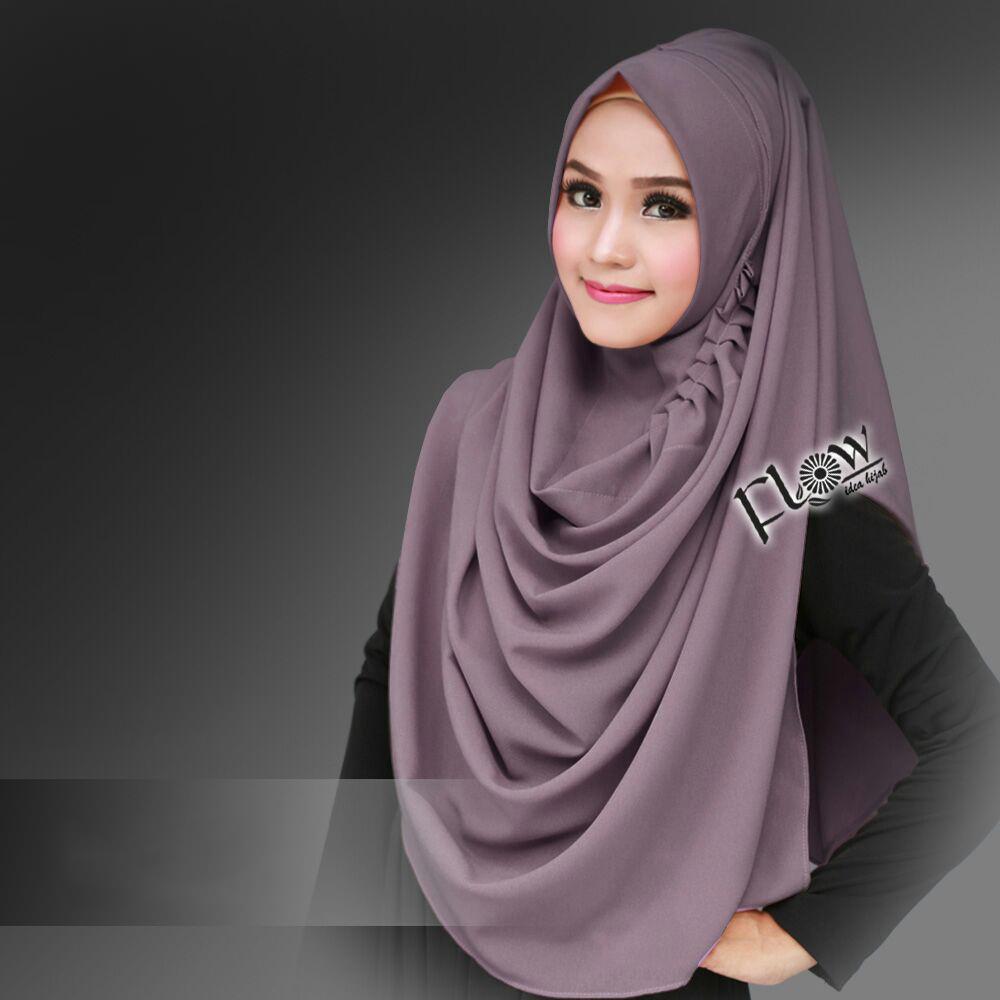Jilbab Instant LCB Premium Lavender