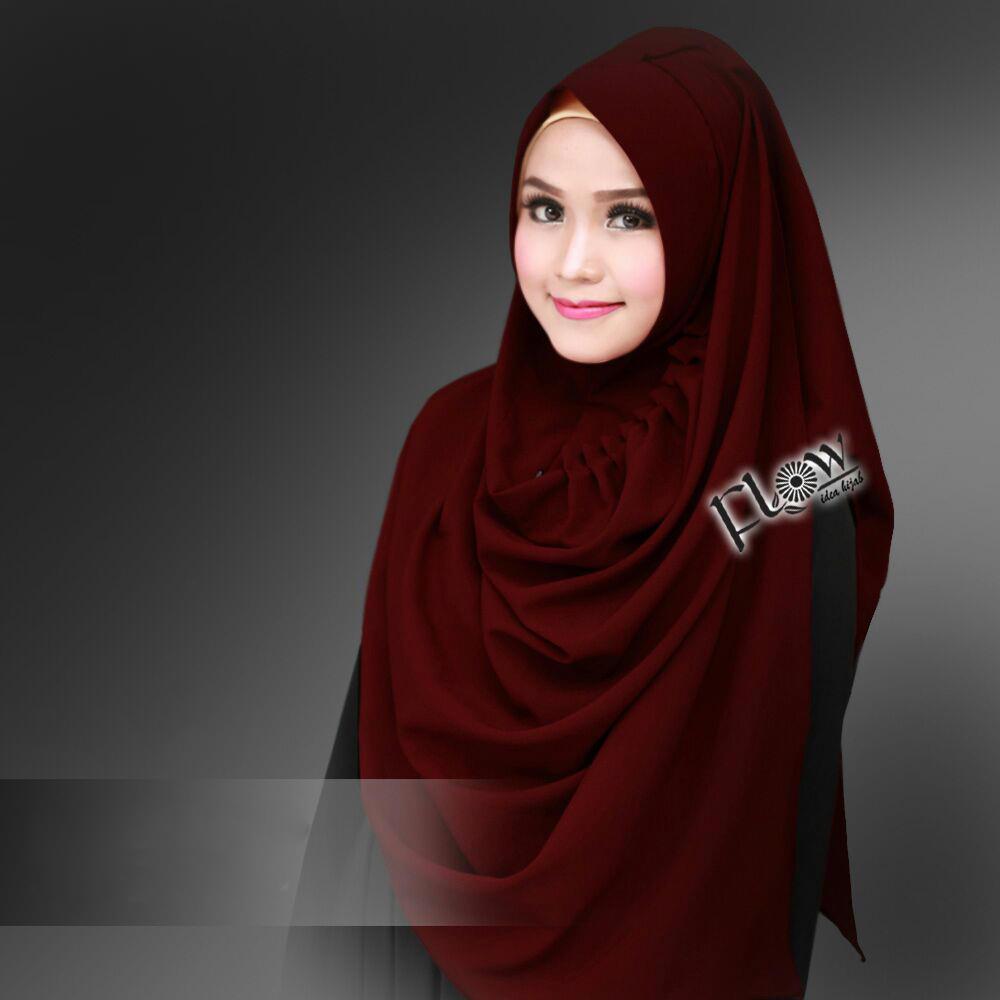 Jilbab Instant LCB Premium Marun