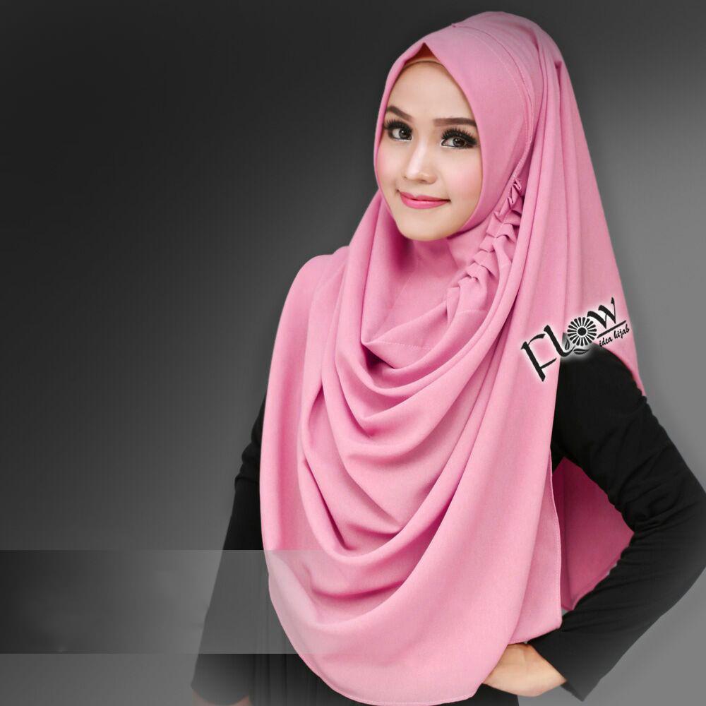 Jilbab Instant LCB Premium Pink