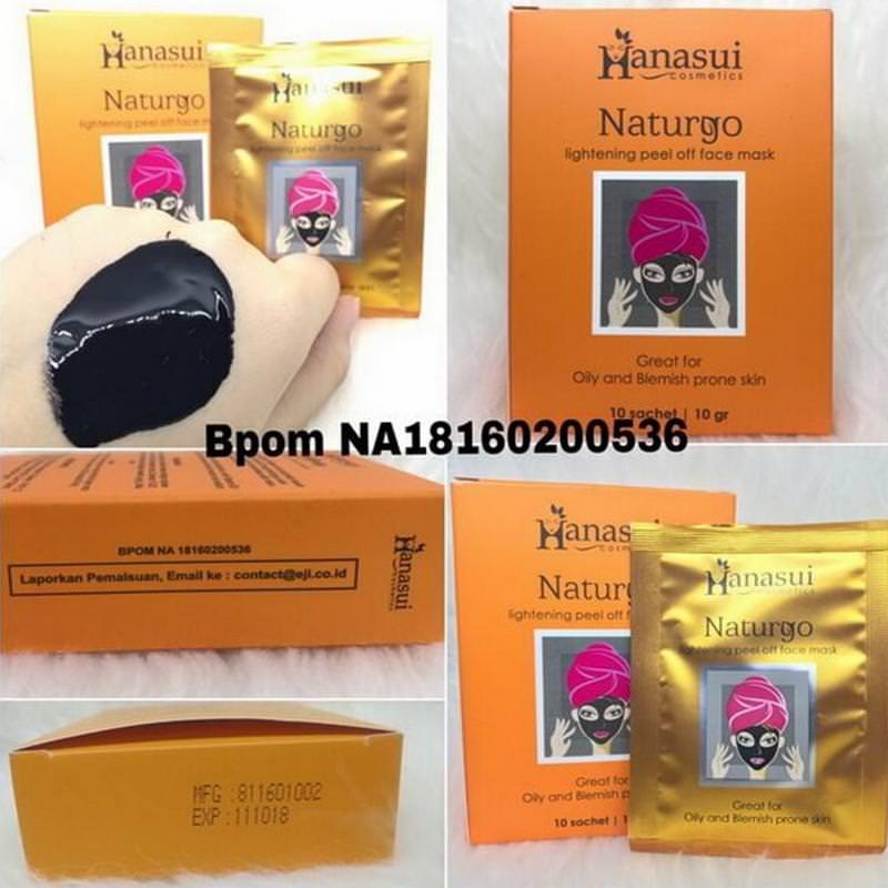 Hanasui Naturgo Masker Lumpur Hitam Original BPOM 2