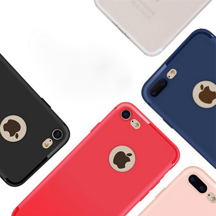 Luxury Back Matte Soft Silicone iPhone Case 4