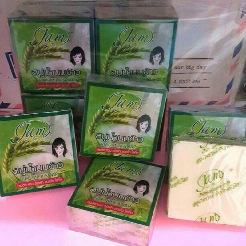 Sabun Beras Original Thailand Merk Jam 3