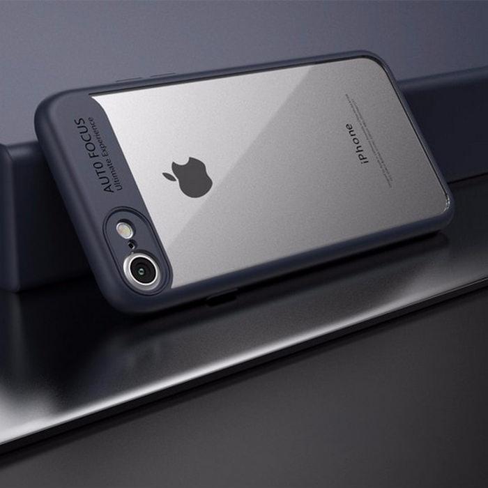 Soft Frame Transparent Hard Back iPhone Case 3