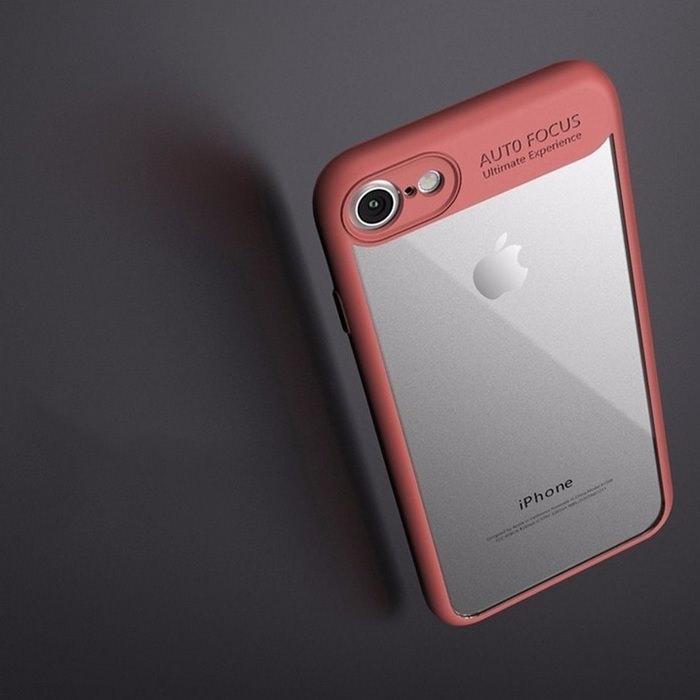 Soft Frame Transparent Hard Back iPhone Case