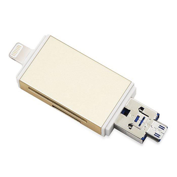 Kismo Flashdisk OTG Dual Card Reader iPhone Android 4