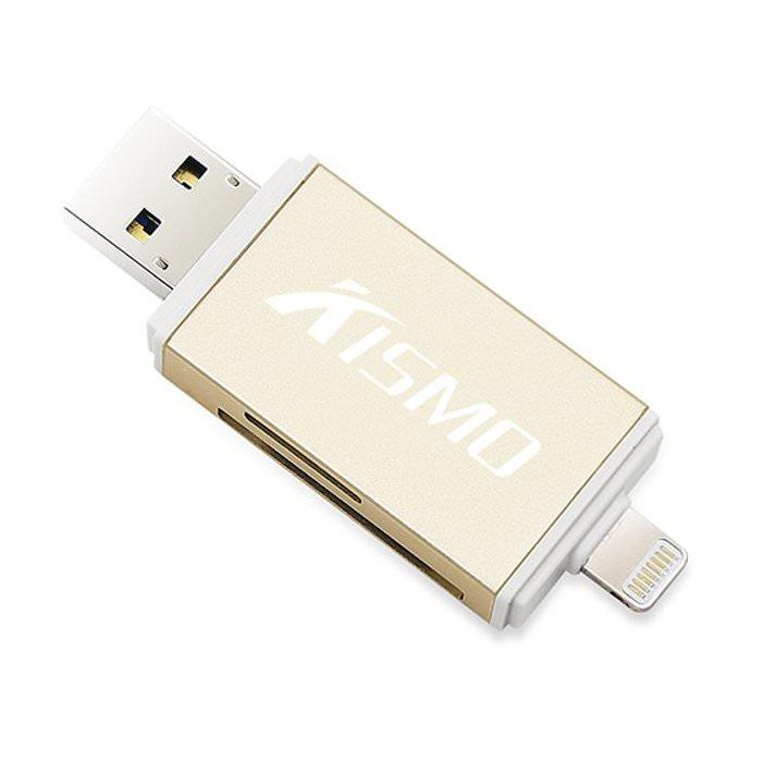 Kismo Flashdisk OTG Dual Card Reader iPhone Android
