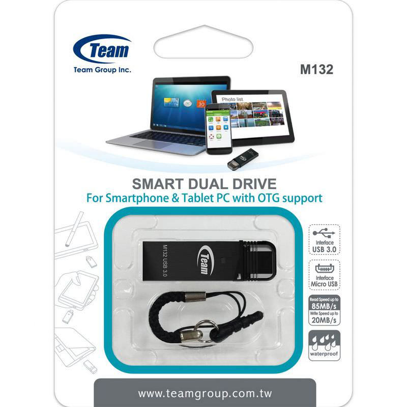 Team M132 Flash Drive USB OTG Android 2