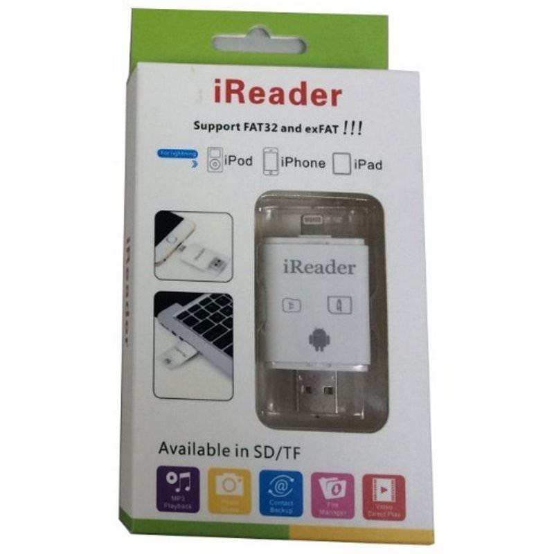iReader i-Flash Drive Lightning Card Reader iPhone iPad 2