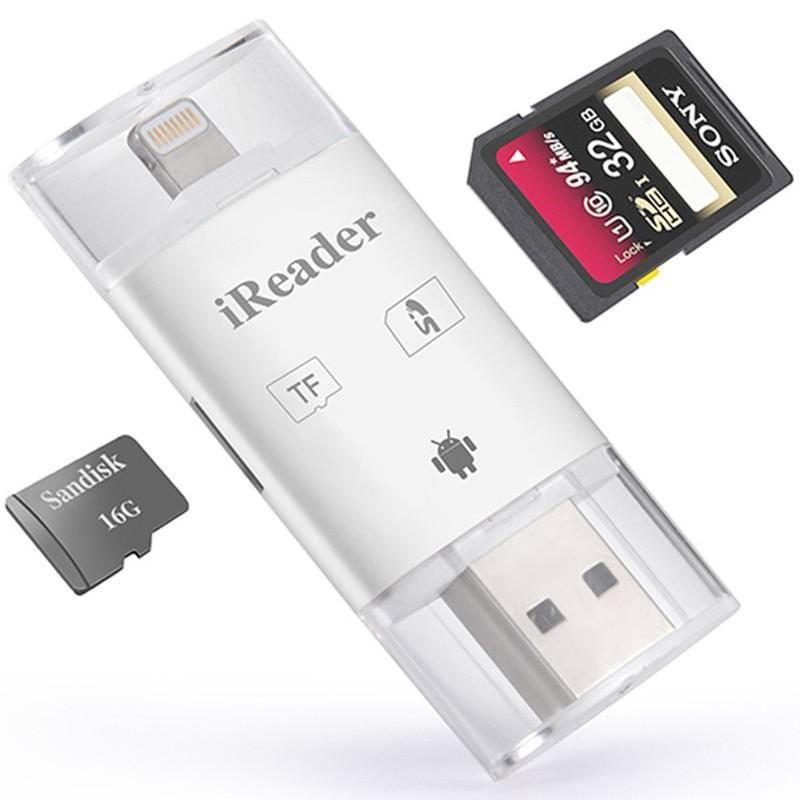 iReader i-Flash Drive Lightning Card Reader iPhone iPad
